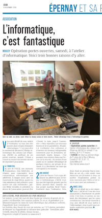 Article Union 2018.11.15 Portes Ouvertes s